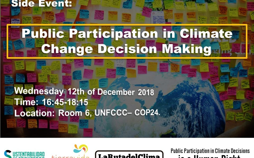 Side event COP24 - Public Participation