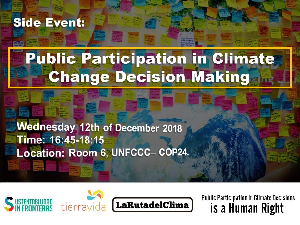 Side event COP24 - Public Participation