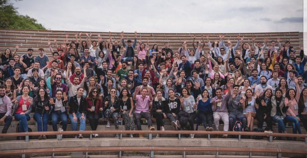 Jóvenes argentinos en la Conferencia de la Juventud